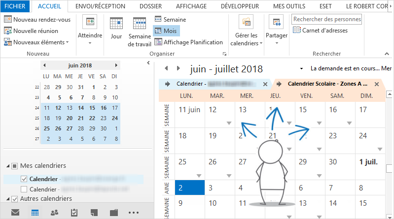 Calendrier Outlook trois astuces insolites