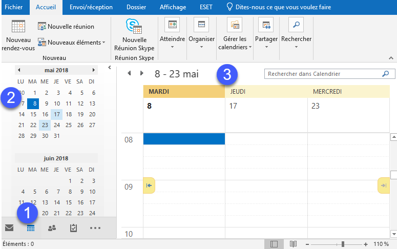 Affichage Calendrier Outlook.Calendriers Outlook Trois Astuces Insolites Activ Assistante