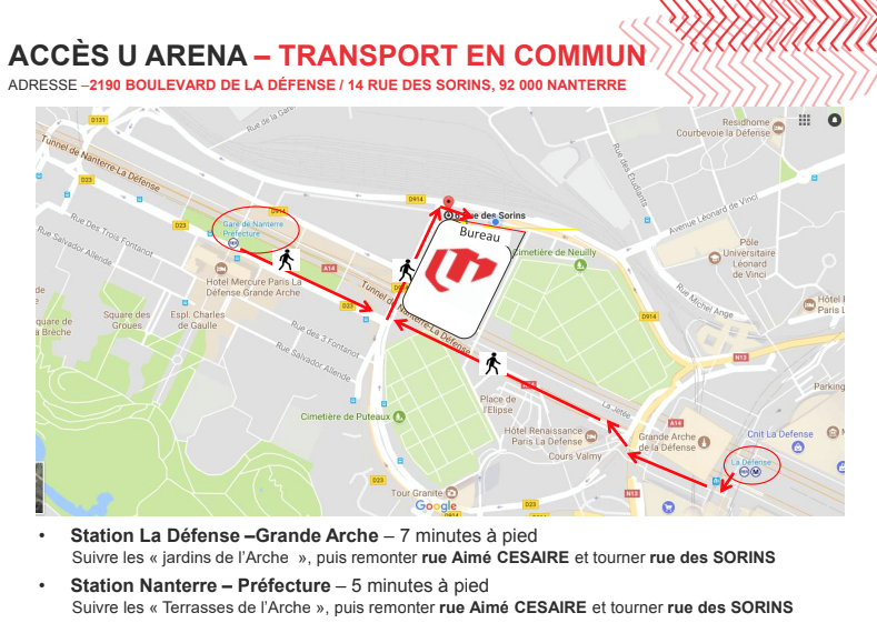 u arena paris la defense - activ assistante workshop before summer - inscription