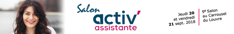 salon activ assistante 2018 septembre 20 et 21 - Paris