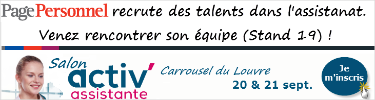 Salon Activ' Assistante 2018 Carrousel du Louvre PagePersonnel - Stand 19
