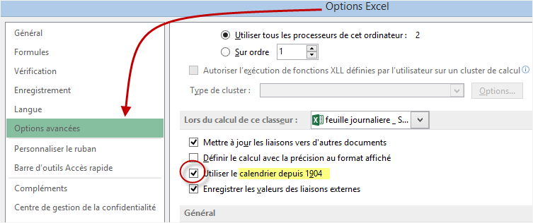 Excel additionner des heures negatives