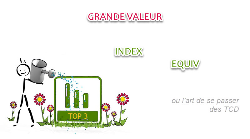TOP 3 interactif sous excel