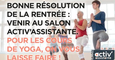 #SalonActivAssistante Palais Brongniart - Paris 19-9-2019 bonne resolution rentree yoga