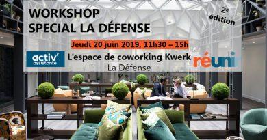 workshop de l'été La Défense - 20 juin 2019 Activ Assistante et Réunir